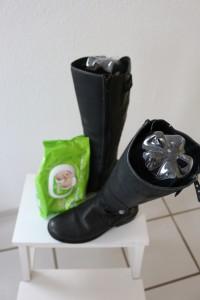 Stiefel putzen und pflegen
